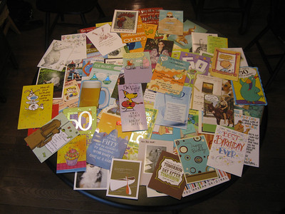 image of a pile of cards for my birthday